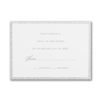 Silver Border Elegance Response Card and Envelope