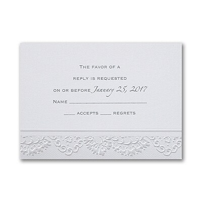 Lace Embrace Respond Card with Envelope