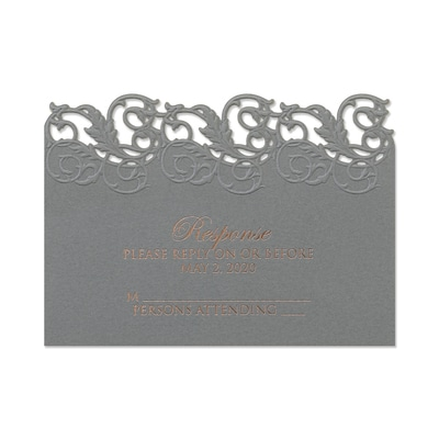 Perfectly Pewter - Response Card and Envelope