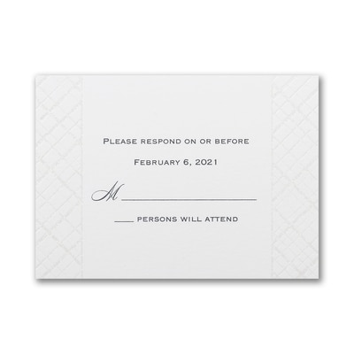 Lavish Lattice - Response Card and Envelope