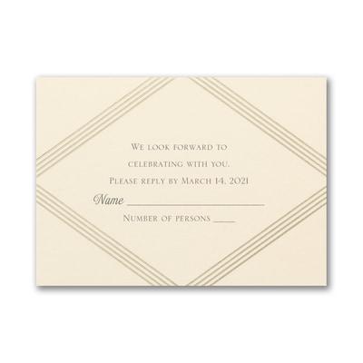 Elegant Geometric - Response Card and Envelope