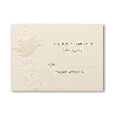 Sophisticated Bloom - Response Card and Envelope