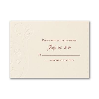 Garden Flourish - Response Card and Envelope