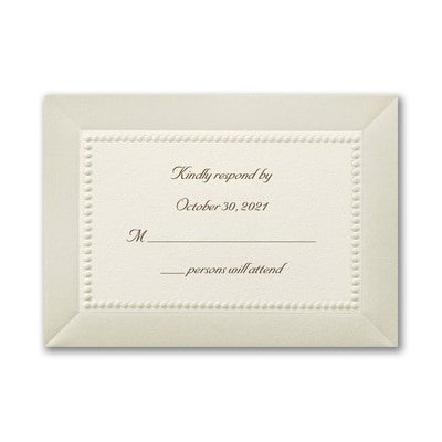 Pearl Elegance - Response Card and Envelope - Ecru