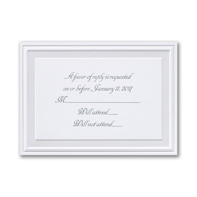 Pearl Poetry - White - Respond Card and Envelope
