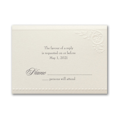 Divine Day - Response Card and Envelope - Ecru Shimmer