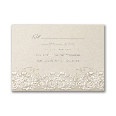Rococo Romance Response Card and Envelope