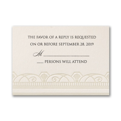 Decadent Deco - Response Card and Envelope