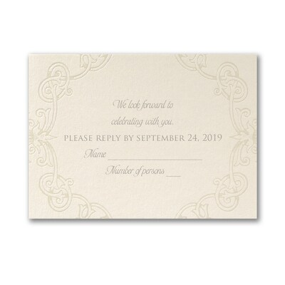 Opulent Monogram - Response Card and Envelope