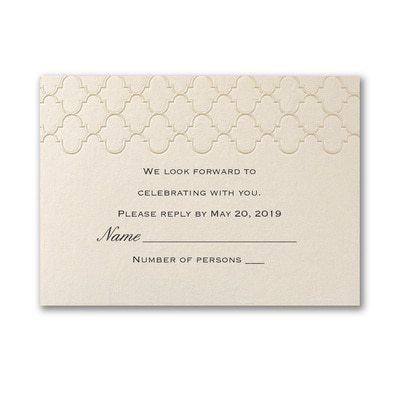 Moroccan Elegance - Response Card and Envelope
