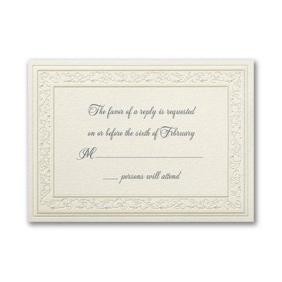 Pearl Hearts - Respond Card and Envelope