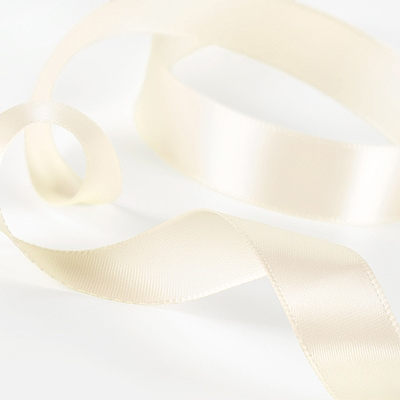 Satin Ribbon - Antique White