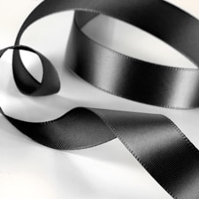 Satin Ribbon - Black
