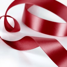 Satin Ribbon - Claret