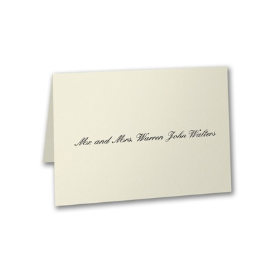 Mr. and Mrs. Calling Card - Folded