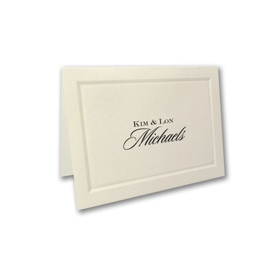 Mr. and Mrs. Paneled Calling Card - Folded