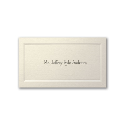 Gentleman's Paneled Calling Card