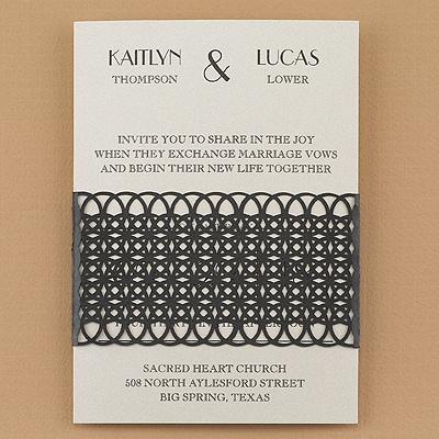 Shimmering Lattice Wrap - Invitation - Ecru Shimmer