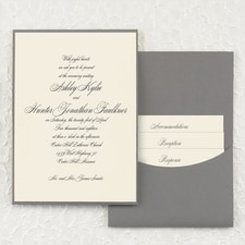 Joyful Details - Invitation with Pewter Pocket - Ecru