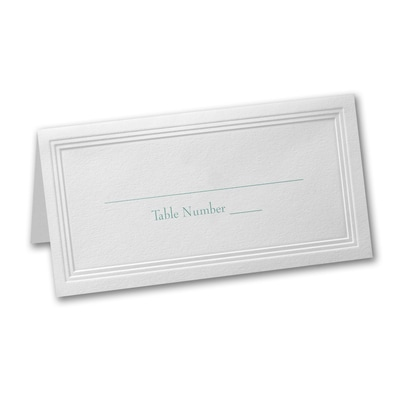 White Triple Panel Place Card - Printed