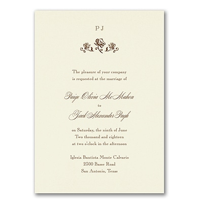 Sophisticated Flowers - Invitation with Designer Liner