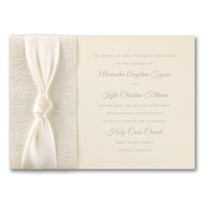 Filigree and Satin - ribbon invitation