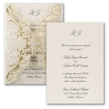 laser cut invitation: Exquisite Lace