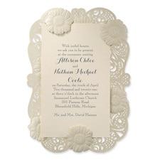 laser cut invitation: So Delicate