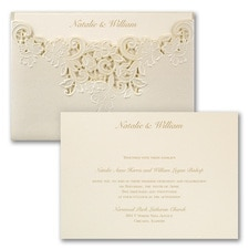 laser cut invitation: Edged in Elegance