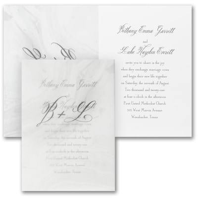 Inspirational Marble - Invitation