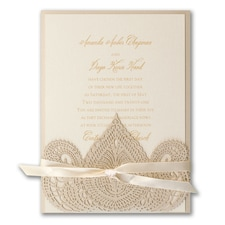 Moroccan Delight - ribbon invitation