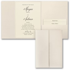 Wedding Invitation: Wrapped in Shimmer