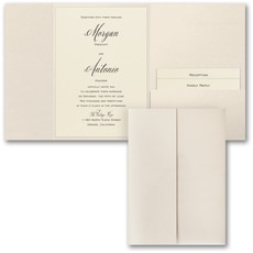 Wrapped in Shimmer - Wedding Invitation