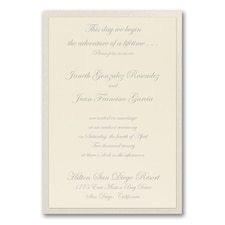 Simple wedding invitations: Fanciful Layers