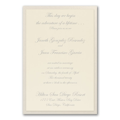 Fanciful Layers - Invitation