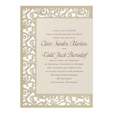 laser cut invitation: Fancy Detail