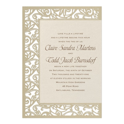 Fancy Detail - Ecru - Invitation