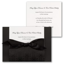 Ebony Amour  - ribbon invitation