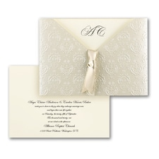 Baroque Detail - ribbon invitation