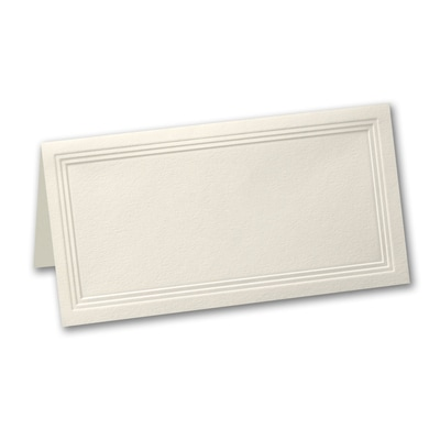 Ecru Triple Panel Place Card - Blank