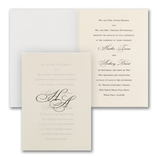 Wedding Invitation: Lovely Sophisticate