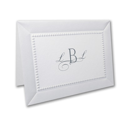 Adorned in Pearl - White - Note Card and Envelope