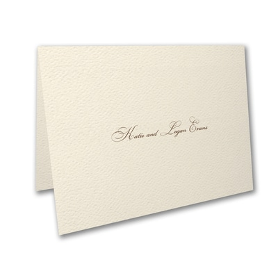 The Marrying Type - Thank You Card and Envelope - Ecru