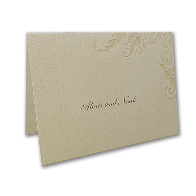 Golden Style - Note Card and Envelope