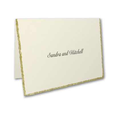 Deckled in Gold - Note Card and Envelope