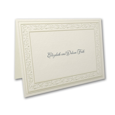 Pearl Hearts - Note Card and Envelope