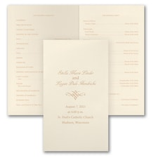 Designed Wedding Program - Ecru