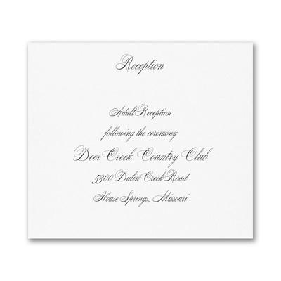 Joyful Details - Reception Card - White