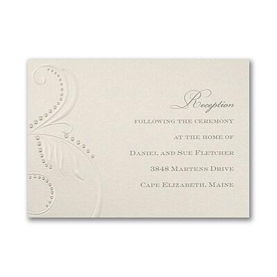Beaded Flourish - Reception Card