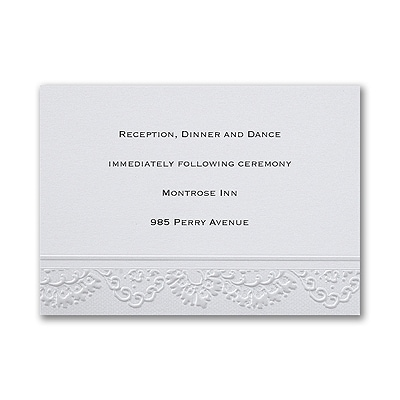 Lace Embrace - Reception Card